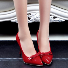 Wholesale Sexy Platform Shoes For Sale - 2014 New Fashion Womens Sale Promotion Sexy Thin High Heel Less Platform For Women Sexy Pointed Toe Bowtie Pumps Shoes
