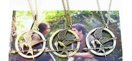 Wholesale Mockingjay Necklace Movie Katniss - The Hunger Games Necklaces Inspired Mockingjay And Arrow Pendant Necklace Authentic Prop imitation Jewelry Katniss Movie mc001