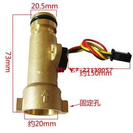 Wholesale Turbine 24v - Wholesale-G1 2 0.3-10L min 2.0MPa DC3-24V Fireplace Water flow rate sensor heater Turbine Sensor Hall Flowmeter for Water heaters