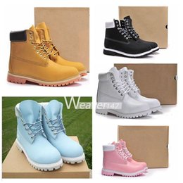 Wholesale Pony Leather - Authentic Brand Motorcycle Boots Men Casual 6-Inch Premium Boots Women Waterproof outdoor 10061 Wheat Nubuck boots size 36-46