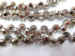 Wholesale Champagne Faceted Crystal Jewelry - 6x8mm 5strands high quality crystal like swarovski drop onion faceted champagne assortment jewelry beads 8x15mm 5strands 250pcs