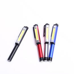 Luci chirurgiche online-VENDITA CALDA Alluminio LED COB CREE Medico Chirurgico Infermiera Emergenza Riutilizzabile Pocket Pen Light Penlight Torcia Torcia per Campeggio di Lavoro