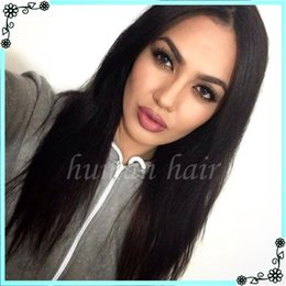 Wholesale natural yaki body wave wig - 7A Full Lace Human Hair Wigs For Black Woman Italian Light Yaki Glueless Full Lace Wigs Virgin Human Hair Full Lace Wig