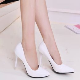 Wholesale Hot Sexy Heels - Hot Sales Women High Heels Sexy Fashion Wedding Shoes Pointed Toe High Heels Shoes Good Quality Women's Pumps Size 36-39 TZ0181