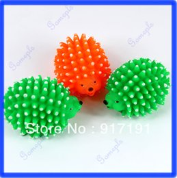 Wholesale Toy Shapes Track - Free Shipping 3pcs lot Cute Hedgehog Shape Pet Dog Puppy Squeaky Chew Toy Squeaker Ball Funny Toys order<$18no track