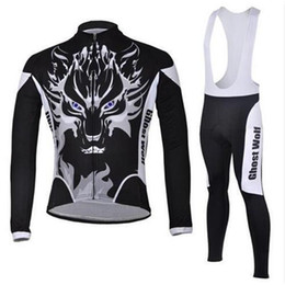 Wholesale Super Gel Uv Dryer - Ghost Wolf Winter Thermal Fleece Cycling Ropa Ciclismo Invierno Cycling jerseys Super Warm Bicycle Clothing Long GEL Pad Pants