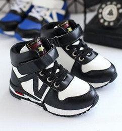 Wholesale Wholesale Fashion Korean Sneakers - New Winter Korean Fashion Kids Boys Girls Casual Shoes Patchwork Running Shoes For Wholesale Cotton Warm Children Sneakers KS81210-24