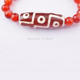 Wholesale Agate Dzi - Energy Tibetan 9 eye Dzi Beaded Bracelet agate - Feng Shui W Gift Box Free shipping all over the world H2092