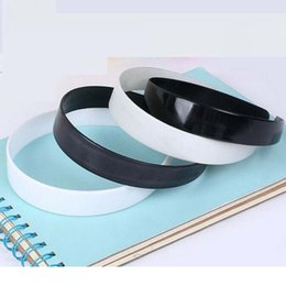 Wholesale Birthday Girl Decoration - Plastic Hairband Headband Band Girls Women Hair Accessories White Black