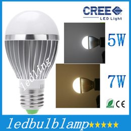 Wholesale Sensor E26 - CREE Bulbs 85-265V Lamps LED E27 motion sensor light 5W 7W auto Detection bulb Sound with Light sensor Lamp Tubes PTCT H12765 H14653