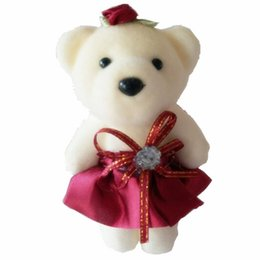 Wholesale gift wrapped toys - 10piece lots Cute mini baby bear toys bouquets, flowers, wrapping materials, cartoon bouquets Christmas gifts for girls vbhu