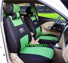 Wholesale Car Seat Covers Black Red - Car Covers Universal Seat Cover For TOYOTA Corolla Camry Rav4 Vitz Auris Prius Yaris Avensis With 3D Meterial+Logo+Free Shipping