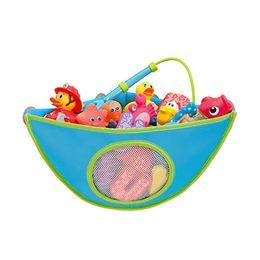 Wholesale Bath Set Basket - 38*29*18cm Folding Eco-Friendly High Quality Baby Bathroom Mesh Bag Child Bath Toy Storage Bag Net Suction Cup Baskets
