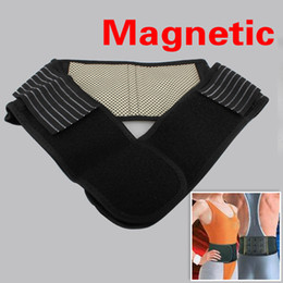 Wholesale Magnetic Waist Support - ot Health Care Magnetic Slimming Lower Back Support Waist Lumbar Brace Belt Strap Backache Pain Relief Free Shipping