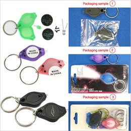 Wholesale Micro Led Keychain - Mini Keychain Squeeze Light Micro LED Flashlight Torch Outdoor Camping Emergency Key Ring Light 200pcs YYA957