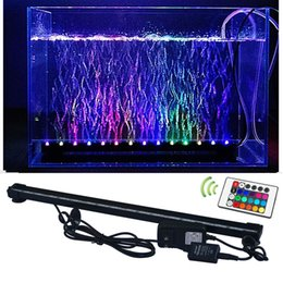 Wholesale Underwater Strip - RGB Fish Tank Plant lamp Underwater Bubble Light Lamp With Remote controller, aquarium led lighting, free shipping