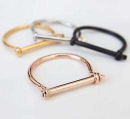 KISS JEWELRY Schäkel Schraube Armband Armreif für Frauen Schraube Armband Mode 18 Karat Roségold Nagel Liebe Schraube Armband wK-001 von Fabrikanten