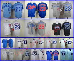 Wholesale Clocks Black - Throwback 23 Ryan Sandberg Jersey Chicago Cubs Retro Turn The Clock Jersey Blue 125th Anniversary White,Grey,Cream,stripe,Black