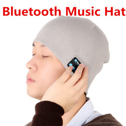 Wholesale Novelty Hand Warmers - Bluetooth Music Soft Warm Hat With Stereo Headset Speaker Wireless Hands-free Cap for man support for iphone ipad Samsung Smartphone