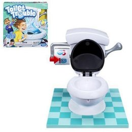 Wholesale Tricky Toilet Toy - Toilet Trouble Game Washroom Tricky Toys Family Fun Games Friends Play Together Gifts Spraying Water Spoof Game OOA3598