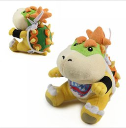 Wholesale Branded Soft Toys - Free Shipping Super Mario Brothers Plush Bowser Jr. Soft Stuffed Plush Toy Brand New With Tag 7""