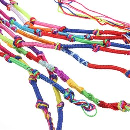 Wholesale Friendship Bracelet Designs - 1 pack 9pcs lot Fashion Design Mix Lots Braid Friendship Woven Cords Strands Bracelets Bulk String Thread Strap Rope wristband order<$18no t
