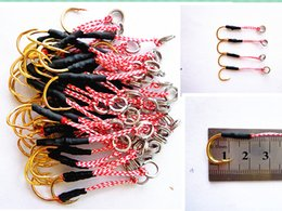 Wholesale Ice Jigs - Hot sale metal jig hook 13# 14# gold hook for lead fish lead lure single hook free shipping