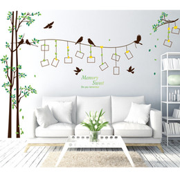 Wholesale Large Framed Posters - Brand 2017 290*205 Large Size Family Photo Frame Tree Wall Sticker Decal Home Decor Living Room Bedroom Wall Stickers Poster DIY
