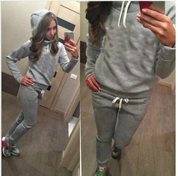 Wholesale Baseball Hoodie For Women - Women's Sport Suits Brand New Tracksuit for women sweatshirt and Joggers sets Plus Size Autumn Winter Coat svitshot hoodie