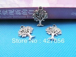 Wholesale Antique Filigree Charm Findings - 16mmx22mm Antique Silver tone Cabinet Filigree Wish Tree of Life Connector Pendant Charm Finding,DIY Accessory Jewellry Making