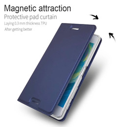 Wholesale Xperia Flip Case - Luxury Book style Leather Case For Sony Xperia XZ Premium  X performance X Compact XZ XZs XA Magnetic Wallet Protective Case Flip Cover