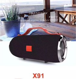 Wholesale Outdoor Music - X91 Mini Hand-held Portable Bluetooth Speakers Subwoofer Stereo Wireless Outdoor Sport Waterproof Portable Audio MP3 Music Player