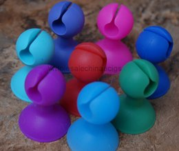 Wholesale Silicone Stands For Ego - 2015 Ego Suckers e cigarette silicone suckers ego base holder ego display stands rubber caps pen holder stand for EGOs battery ego e cigs
