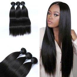 Wholesale Brazilian Vigin Hair - 8A Good Quality Brazilian Straight Vigin Hair 3 bundles Natural Color for 8-30 inches Stock Human Hair