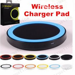 Wholesale Qi Charger S3 - S6 Qi Wireless Charger Cell phone Mini Charge Pad For Qi-abled device Samsung Galaxy S3 S4 S5 S6 Note2 3 4 Nokia HTC LG Iphone phone MQ100