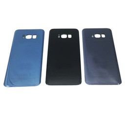 Wholesale Battery Cover Door - Original Battery Door Back Housing Cover Glass Cover for Samsung Galaxy S8 G950 G950P S8 Plus G955P with Adhesive Sticker