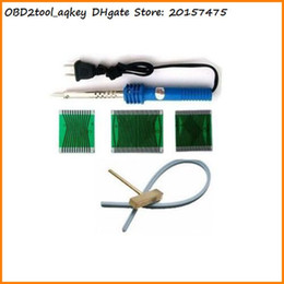 Wholesale Soldering T - AQkey OBD2tool 1 set For mercedes W210 W202 W208 dashboard pixel repair ribbon cable Soldering Iron T-head Rubber Cable