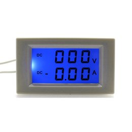 Wholesale Dc Volt Ammeter - DC0-600V 50.0A Volt Amp Tester Meter DC Ammeter Voltmeter Power Supply DC 3-40V With Blue Backlight