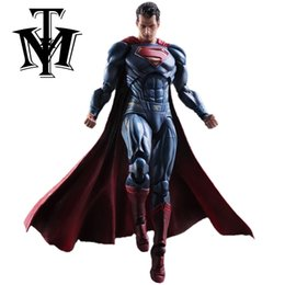 Wholesale Super Hot Models Men - Anime Movie Superman Action Figure Playarts Kai figurine kids hot Toys Collection Model Play arts Kai Super man doll juguetes
