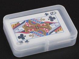 100 шт. Высокое Качество Прозрачный Игральные КАРТЫ Пластиковая Коробка ПП Ящики Для Хранения Упаковка Чехол (КАРТЫ ширина менее 6 см) от