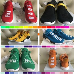 Wholesale Cut Factory - 2017 Human Race NMD Factory Real Boost Yellow Red Green Black Orange NMD Men Pharrell Williams X Human Race NMD Running Shoes Sneakers