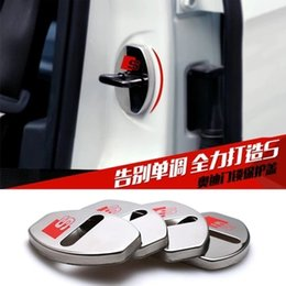 Wholesale Audi A4 Rs4 - stainless steel Door lock buckle decoration cover for Audi A1 A3 A4 A6 A7 Q3 Q5 Q7 A4 S4 RS4 A5 S5 RS5 S6 (C7) S7 SQ5 8R A8