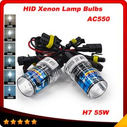 Wholesale Slim Hid Lights - Slim Ballast kit Xenon Hid Kit 55W H7 AC550 Car light source Headlight bulbs lamp 4300K 5000K 6000K 8000K 10000K 12000K