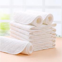 2020 bebé eco algodón 1000pcs EMS pañales de bebé de bambú Eco pañales de algodón productos para bebés pañales Unisex Lavable con repetido para el cuidado de los niños 32x12 cm rebajas bebé eco algodón