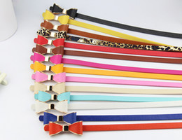 Wholesale thin belts for women - Belts leisure feather belts for women candy colors sweety solid thin lady dress collocation body commerbund waist belt strap Accessories