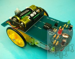 Wholesale Circuit Toy - Analog Circuit Automatic Intelligent Tracking Car Electronic Kit Parts Electronic DIY Kit(without Battery),Free shipping
