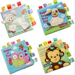 Wholesale Math Education - JJOVCE Baby math counting toys owl monkey dog Animal embroidered puzzle cloth book Education for child gift