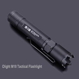 Wholesale Olight Tactical Flashlight - Waterproof Tailcap-Switch 3 Modes LED Flashlight Torch Olight M18 Striker 800 Lumens Cree XM-L2 Tactical Flashlight