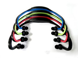 Wholesale Sport Mp3 Player Headsets - Wireless Sport MP3 Player Bluetooth Stereo Headset headphon head sport mp3 Earphone Colorful With Retailing Package Free shipping