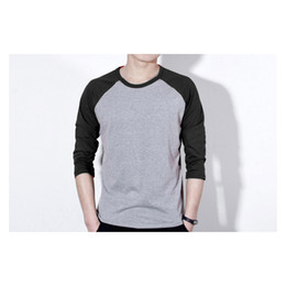 Wholesale Customized Fashion Shirt - Customized LOGO mens t shirts fashion long sleeve T-shirt Candy color t shirt Adult Printing colors Grim Very cool Wholesale price